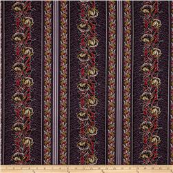 Molly B's Flowers & Cherries Dark Purple/Red