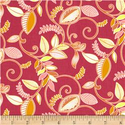 Gramercy Medium Floral Pink Fabric