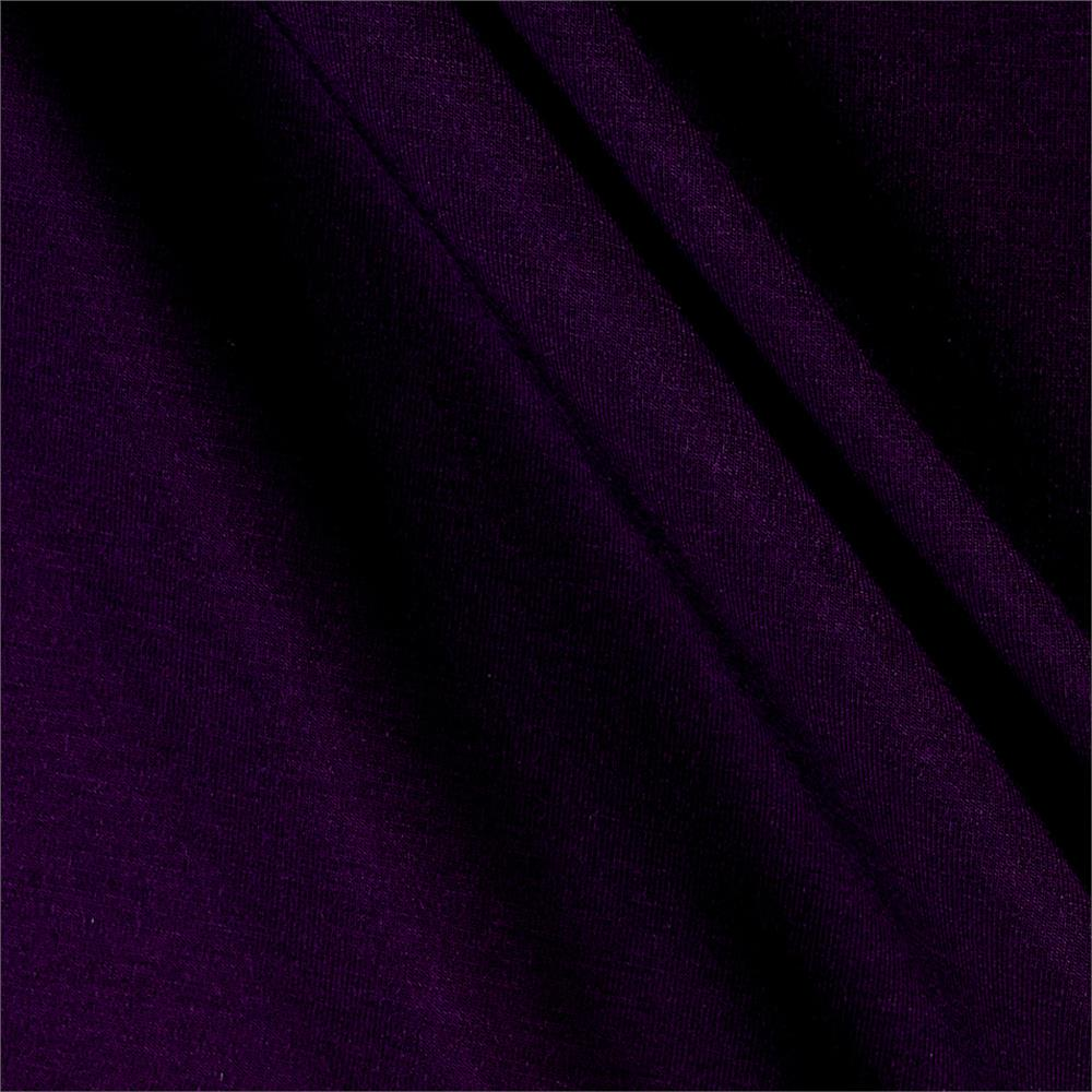Telio Rayon Jersey Knit Dark Plum Fabric