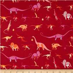 Natural History Dinosaurs Red