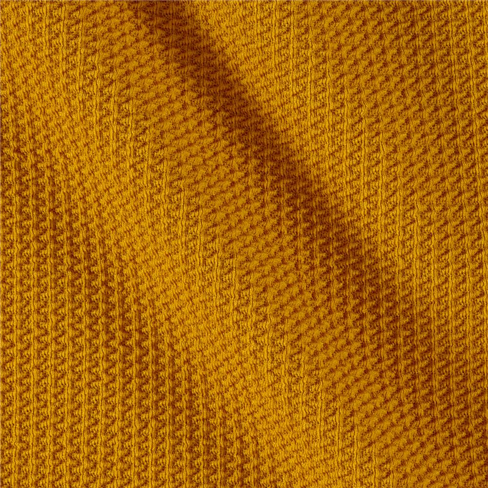 Knitting Fabric : Telio paola pique knit mustard discount designer fabric