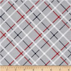 Riley Blake Play Ball 2 Plaid Gray
