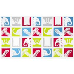 Trunk Show Elephant Blocks Multi Fabric