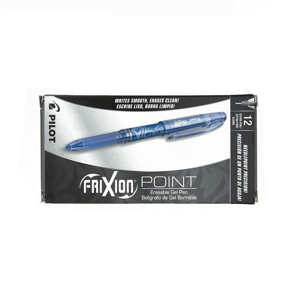 Pilot FriXion Extra Fine Point Erasable Gel Pen Blue