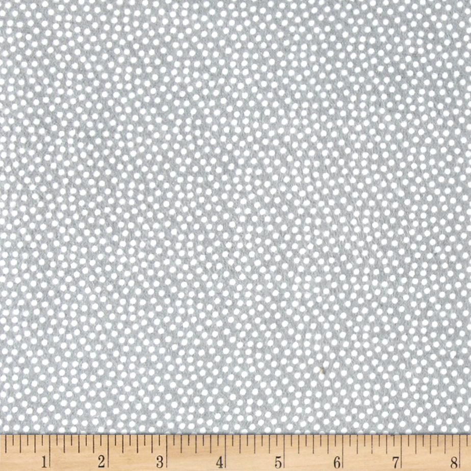 Comfy Flannel Dot Grey/White Fabric by A. E. Nathan in USA