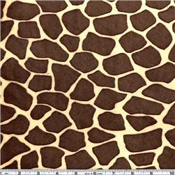 Minky Cuddle Giraffe Butter/Brown
