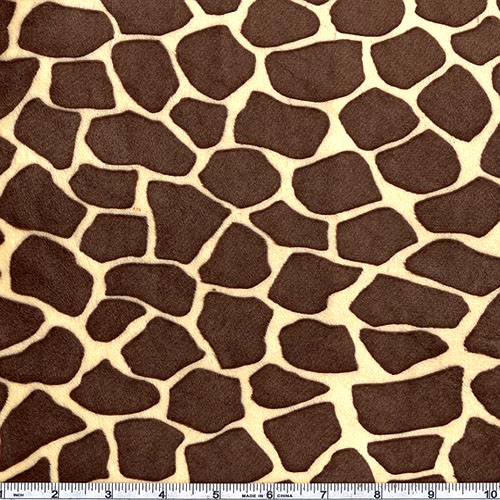 Minky Cuddle Giraffe Butter/Brown Fabric