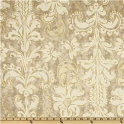 French Twist Damask Grey/White