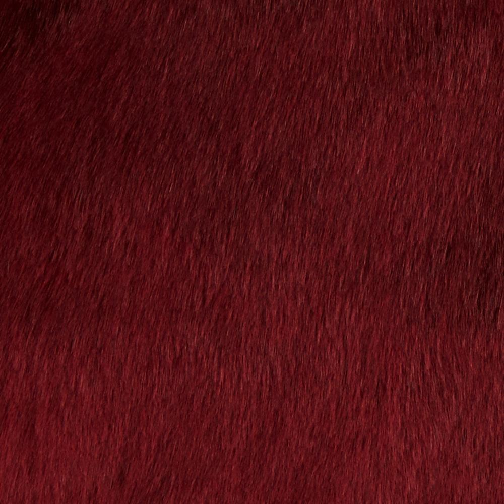 Tissavel Luxury Faux Volga Fur Garnet