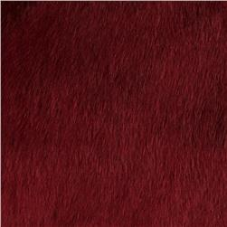 Tissavel Luxury Faux Volga Fur Garnet Fabric