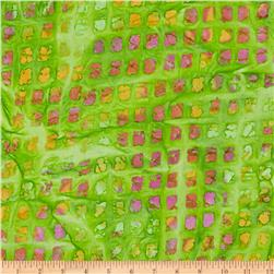 Indian Batik Colortiles Peach/Green