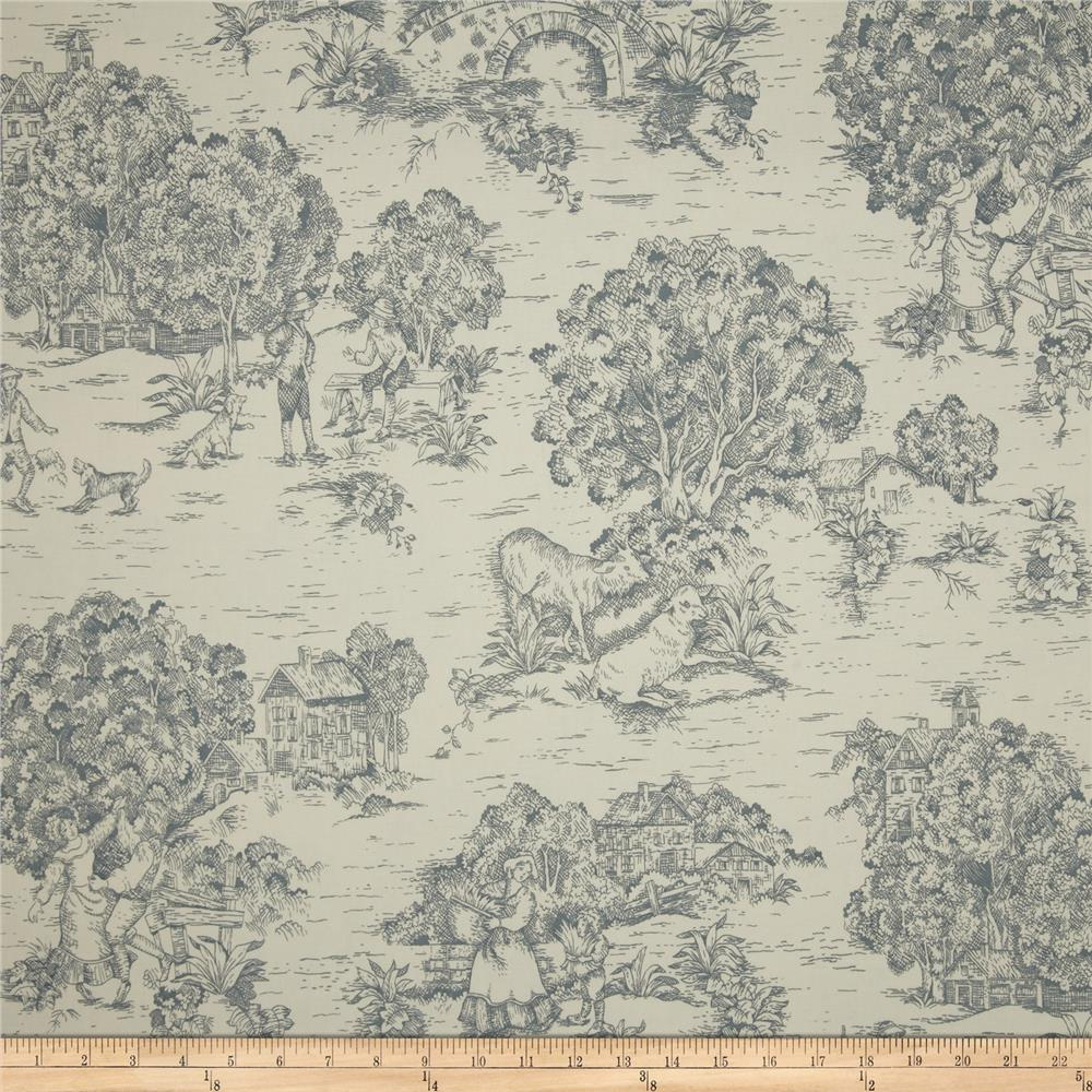 Magnolia Home Fashions Quaker Toile Lake