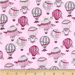 C'Est La Vie Hot Air Balloons Light Pink