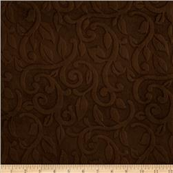 Minky Vine Cuddle Brown Fabric