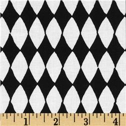 Carousel Diamonds Black/White Fabric