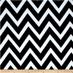 Jersey Knit Chevron Black/White