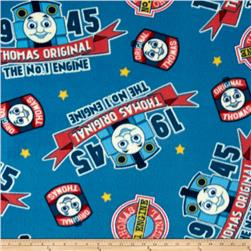 Thomas the Train Fleece Logo Blue