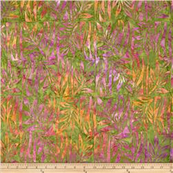 Indonesian Batiks Patch Leaves Green