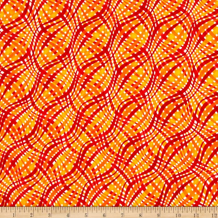 Emily's Artful Days Plaid Red/Orange