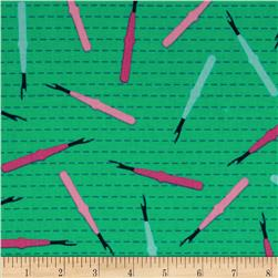 Sew Party Seam Rippers Emerald Fabric
