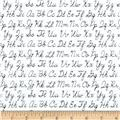 Back To School Cursive Alphabet White