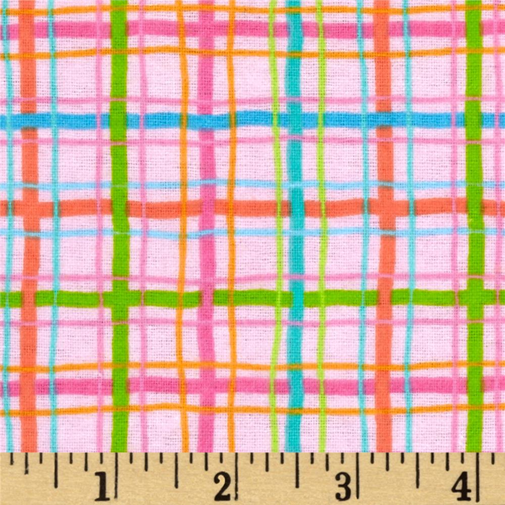 Parfait Flannel Plaid Bubblegum