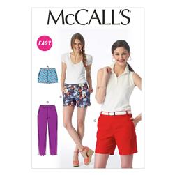 McCall's Misses' Shorts and Pants Pattern M6930 Size A50