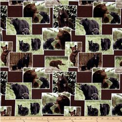 On The Wild Side Flannel Bears Brown