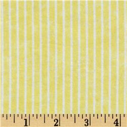 Bear Hugs Flannel Stripe Yellow