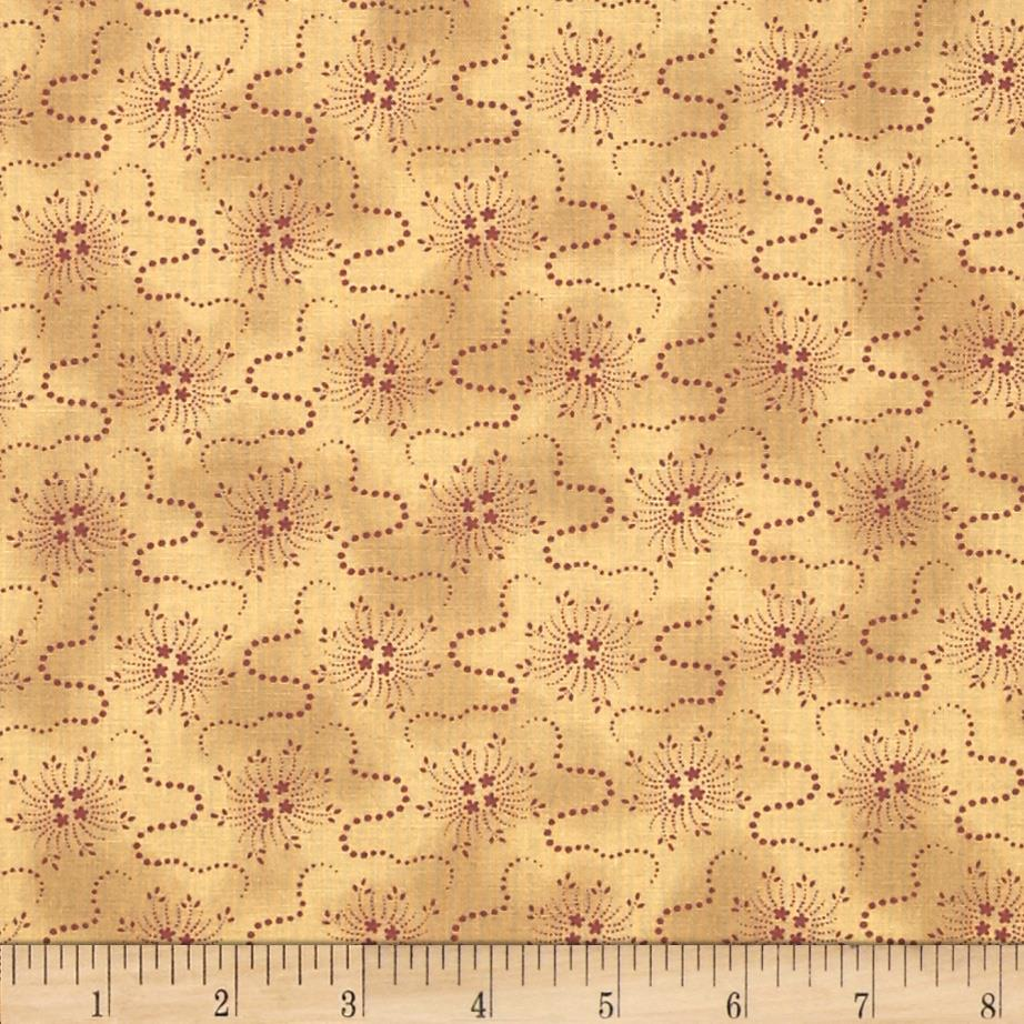 Moda Collections for a Cause Mill Book 1892 Floral Bursts Tan