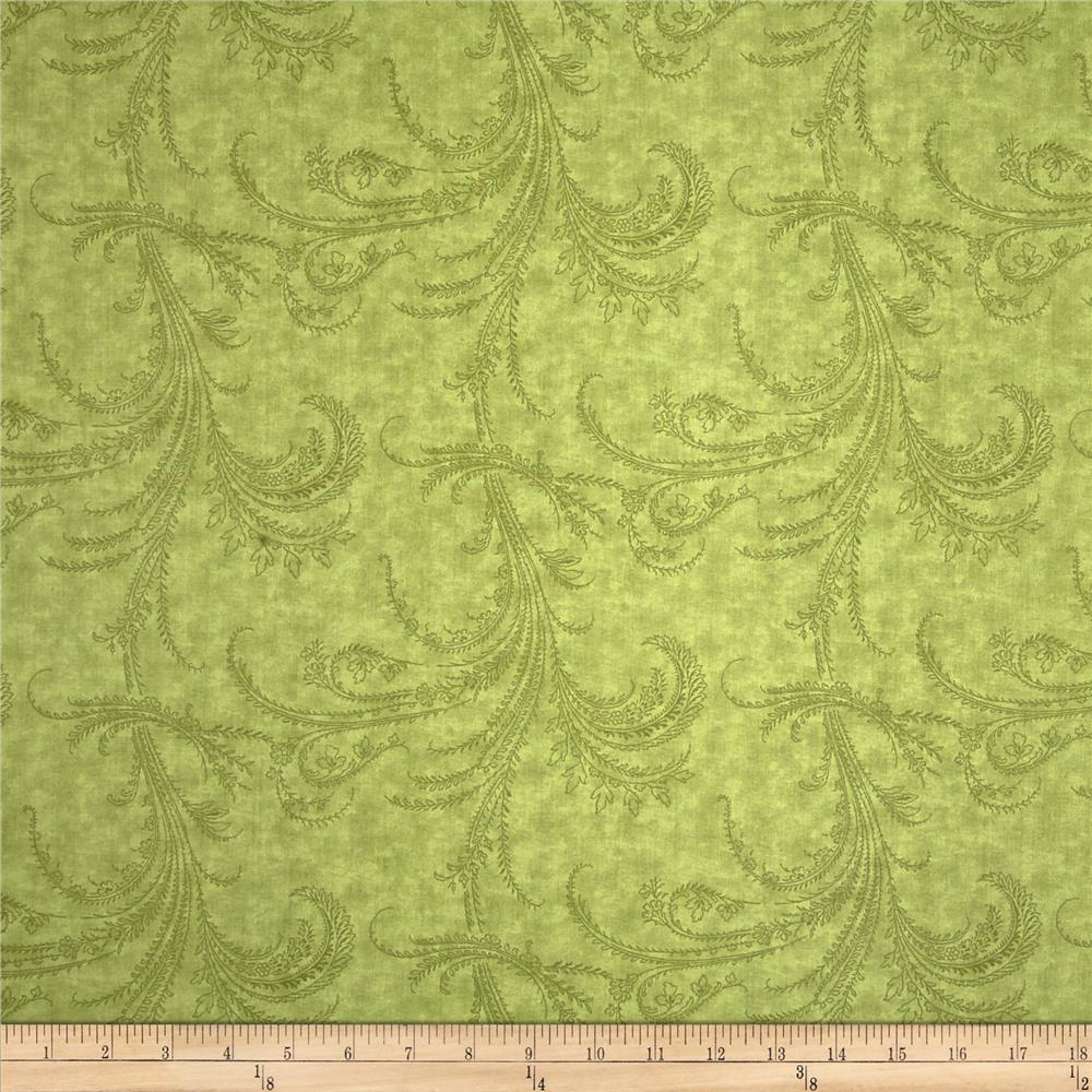 Moda Under the Mistletoe 108 In. Quilt Back Etched Scrolls Mistletoe
