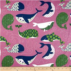 True Blue Whales Dark Pink