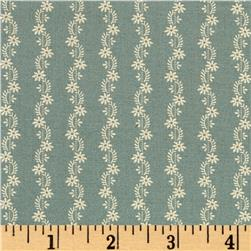 Jo Morton Reflections Sweet Floral Stripe Light Blue