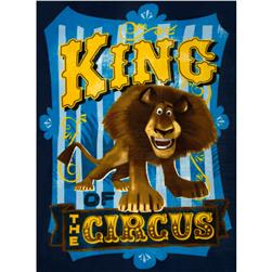 Madagascar King of the Circus Fleece Panel Multi