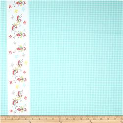 Riley Blake Butterfly Dance Double-Border Blue Fabric