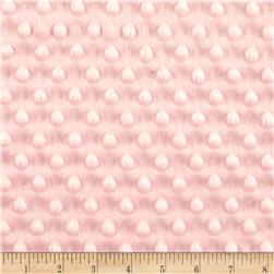 Michael Miller Minky Sarah Jane Magic Solid Dot Blush Pink