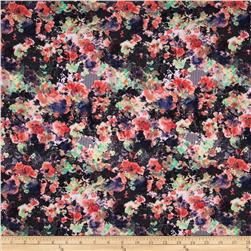 Ponte de Roma Floral Black/Peach/Mint/White