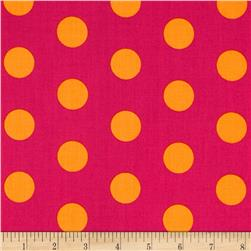 Let's Play Dolls Large Dot Pin Fabric
