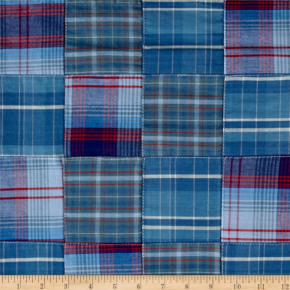 Kaufman Plaid Patchwork Blue