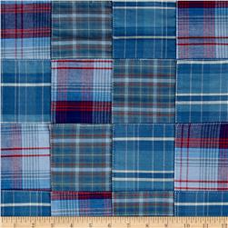 Robert Kaufman Plaid Patchwork Blue