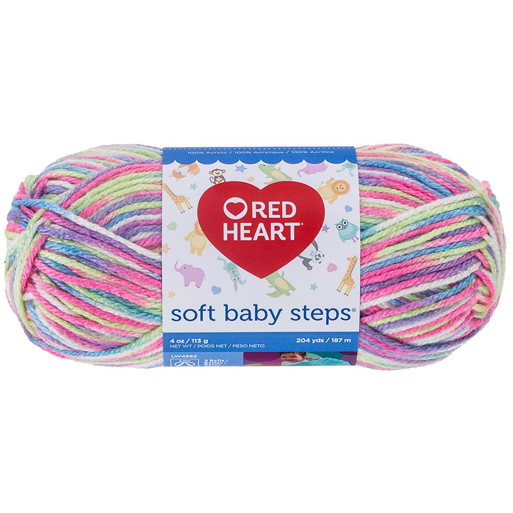 Red Heart Soft Baby Steps 9937 Giggle Print