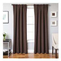 Sunbrella 96'' Solid Rod Pocket Outdoor Panel Bay Brown