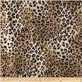 Safari Shimmer Stretch ITY Knit Lynx Spots Natural/Black/Gold