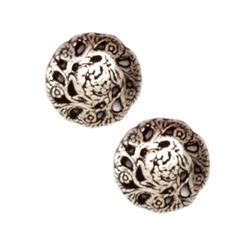 Metal Button 5/8'' Evensong Antique Silver