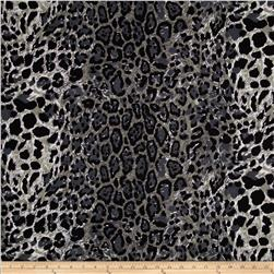 Stretch Jersey Knit Animal Skins Cheetah Charcoal/Black