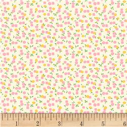 Vintage 30'S Florals Little Square & Flower Pink