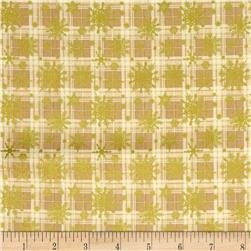 Christmas 2015 Snowflake Plaid Ecru