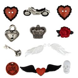 Dress It Up Embellishment Buttons  Angel Heart