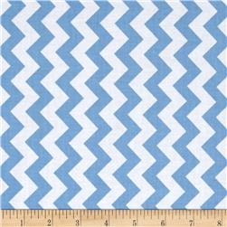 Riley Blake Small Chevron Blue Fabric