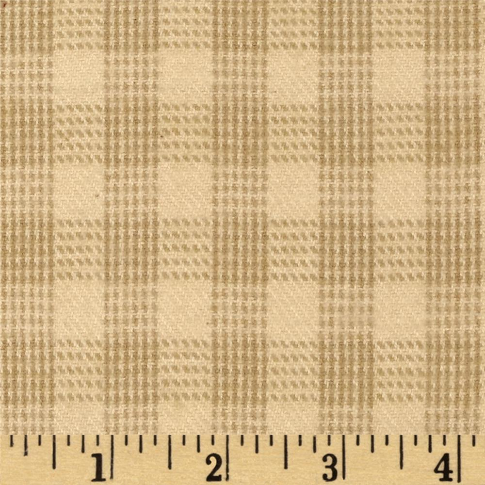 Primo Plaids Flannel Christmas II Plaid Beige/Tan
